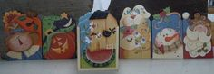 Tissue box set with 6 changeable inserts
