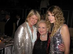 Oh you know, only three of the people I love featured in one picture. (Martha Stewart, Betty White, and TSwift are probably best friends.)