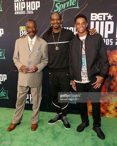 Vernell Varnado, Snoop Dogg, and Cordell Broadus attend the BET Hip Hop Awards 2016 Green Carpet at Cobb Energy Performing Arts Center on September 17, 2016 in Atlanta, Georgia.