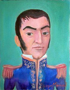 Jose de San Martin . Cuadro en venta de la Serie Historia Argentina del artista plastico Diego Manuel