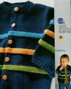 2017 Jungen Pullover - All Hair Styles Baby Boy Knitting Patterns, Baby Cardigan Knitting Pattern, Knitting For Kids, Knit Patterns, Start Knitting, Baby Boy Cardigan, Knitted Baby Cardigan, Knit Baby Sweaters, Toddler Cardigan
