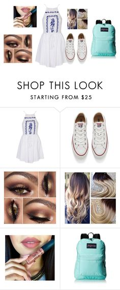"""""""My OOTD <3"""" by emmagvance on Polyvore featuring Topshop, Converse, JanSport, women's clothing, women's fashion, women, female, woman, misses and juniors"""