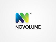 그라데이션을 이용하여 N과V가 구조적으로 결합이 된 듯한 느낌을 주는 로고 형태.