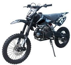 """JetMoto DB-17 Deluxe Dirt / Pit Bike with Extra Large 17"""" Wheel - 4-SPEED Transmission - FREE SHIPPING! LOWEST PRICE GUARANTEED!"""