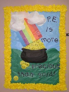 March bulletin boards | This is a March/St. Patrick's Day-themed bulletin board used to greet ...