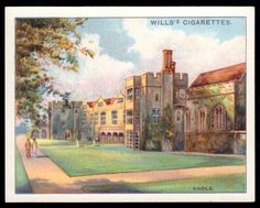 "https://flic.kr/p/8ahpaG | Cigarette Card - Knole, Kent | Wills's Cigarettes ""Beautiful Homes""  (series of 25 large cards issued in 1930) #17 Knole, Kent ~ ""a home of Lord Sackville"""