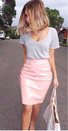 17 Best images about How to wear : Pink on Pinterest | Pink pencil ... women's fashion and style. lively pencil skirts