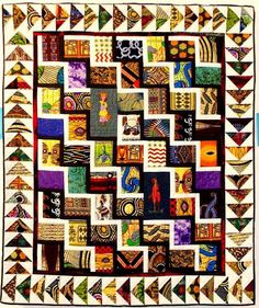 Untitled Work by Christine Kibuka - Kenya Quilt guild African Quilts, African Fabric, African Theme, African Art, Square Patterns, Quilt Patterns, Gees Bend Quilts, Batik Quilts, Patch Quilt