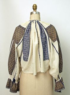 Dress Date: 1900–1981 Culture: Romanian Medium: cotton, metal