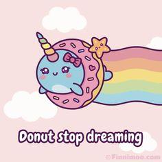 Kawaii Narwhal, Cute Narwhal, Kawaii Doodles, Kawaii Art, Kawaii Drawings, Cute Drawings, Donut Drawing, Unicorn Wallpaper Cute, Pusheen Cute