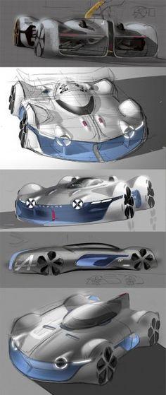 Alpine Vision Gran Turismo Concept Design Sketches by Yann Jarsalle