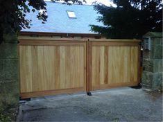 Mitech Contemporary and straight top Driveway Gates Timber Gates, Metal Gates, Wooden Gates, Wrought Iron Gates, Electric Garage Doors, Electric Gates, Drive Gates, Garden Gates And Fencing, Driveway Gate