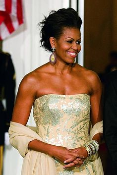 Michelle Obama- a beautiful, inspiring woman. I admire her for all her work on tackling childhood obesity.