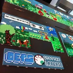Perler bead graffitis by oepscrew