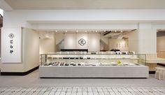 とらや 浅草松屋店 | 実績 Restaurant Branding, Cafe Restaurant, Restaurant Design, Cafe Interior Design, Retail Interior, Seafood Shop, Japanese Store, Bakery Decor, Shop Facade