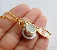 Teacup Necklace - Alice in Wonderland., via Etsy.