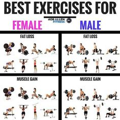 8 Most Effective Exercises For Fat Loss (and Muscle Gains!) 8 Most Effective Exercises For Fat Loss (and Muscle Gains! Fitness Workouts, Weight Training Workouts, Exercise Workouts, Fitness Diet, Workouts To Gain Weight, Gym Machine Workouts, Planet Fitness Workout Plan, Weight Training For Beginners, Enjoy Fitness