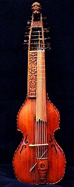 Unusual Instruments  Viola di Pardone (Baryton)  Essentially, the Baryton is a viola da gamba with six or seven strings   but with many thin metal strings running under the fingerboard.  These can be plucked with the thumb of the left hand while the other strings are bowed.