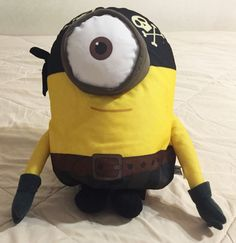 "Large 16"" Pirate Stuart Minion Jumbo Plush Stuffed Toy Minions Illumination  #Illumination"