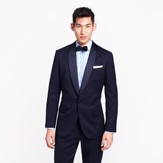 Navy Tux for the Groom! J.Crew - Ludlow shawl-collar tuxedo jacket with double vent in Italian wool