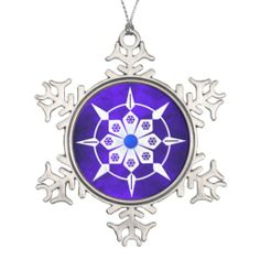 Royal Blue Jewel Christmas Ornament by Sand Creek Ventures