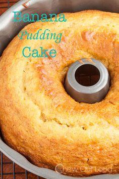 Banana Pudding Cake (5-Ingredients) | Chew Out Loud Homemade Banana Pudding, Banana Pudding Cheesecake, Banana Pudding Recipes, Food Network, Banana Dessert Recipes, Cake Recipes, Trifle Desserts, Baking Desserts, Cake Baking