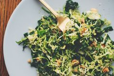 Alkaline Zesty Kale & Brussels Salad Recipe: