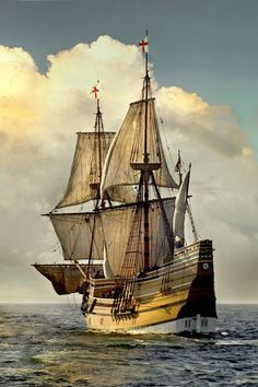 """The Mayflower was the ship that transported English and Dutch Separatists and other adventurers referred to by the Separatists as """"the Strangers"""" to Plymouth, Massachusetts in 1620."""