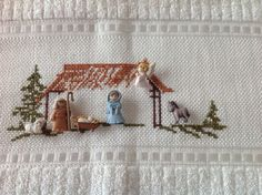 Imagen relacionada Christmas Jesus, Christmas Time, Christmas Projects, Holi, Embroidery Patterns, Nativity, Diy And Crafts, Projects To Try, Cross Stitch