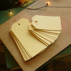 Standard Gift Tag - Pale Yellow / S (50 tags). $5,40, via Etsy.