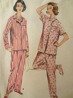 Vintage McCall's 4201 Sewing Pattern, 1950s Pajama Pattern