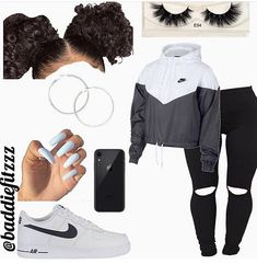 how to put outfits together Cute Lazy Outfits, Baddie Outfits Casual, Swag Outfits For Girls, Teenage Girl Outfits, Cute Swag Outfits, Girls Fashion Clothes, Teen Fashion Outfits, Retro Outfits, Girly Outfits