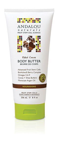 Andalou Naturals Body Butter Nourishing Kukui Cocoa