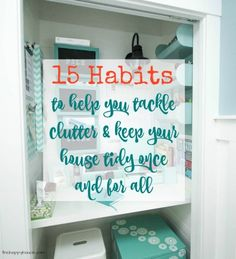 Setting organizational goals that will allow you to tackle those last disorganized and clutter spaces and places in your home.