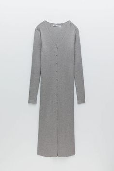 LONG KNIT JACKET WITH BUTTONS | ZARA Canada