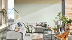 Breaking: de kleur van het jaar 2020 van Flexa is Tranquil Dawn - Roomed Living Room Green, Living Room Decor, Two Tone Walls, Dulux Valentine, Green Color Schemes, Paint Brands, Color Of The Year, Room Paint, Color Trends