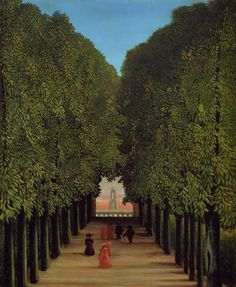 The Avenue in the Park at Saint-Cloud : Henri Rousseau : Museum Art Images Henri Rousseau Paintings, Master Thesis, Städel Museum, Saint Cloud, Post Impressionism, Art Moderne, Naive Art, Renaissance, French Artists