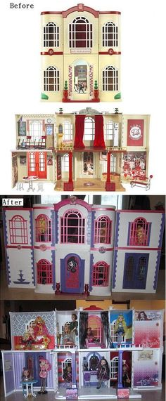 Renovation of a Disney Musical High School Dollhouse into a Barbie Dollhouse ~ I have the original Musical High dollhouse and am trying to decide how to renovate it.