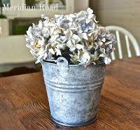 galvanized steel bucket plus a great website with a ton of ideas