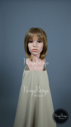 Blonde Bob Wig   Short Wig   Dirty Strawberry Blond Brown Party Pinup Girl Club Rave Cyber Drag Anime Cosplay Lolita Fashion Costume Hair by PungoPungo on Etsy