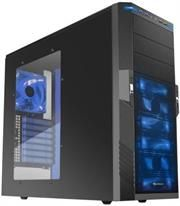 "Sharkoon T9 Value Edition-Gaming ATX Midi Tower Case-2x 5.25"" drive bays (external)-6x 3.5"" HDD bays (internal)2x 2.5""/3.5 ""HDD bays (internal)2x USB3.0,2x USB2.0, 2x audio Connectors,Mesh front panel,Dimensions: 475x200x440 mm-Black with Blue LEDs, Retail Box , 1 Year warranty"