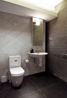 Marble Grey And White Tile Bathroom