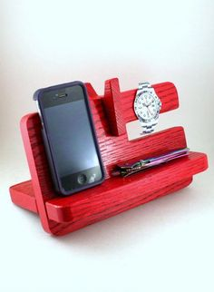 - Samsung Phone Holder - Ideas of Samsung Phone Holder - Docking Station Phone Stand RED Charging by TheSqueakyParrot Desk Phone Holder, Iphone Holder, Iphone Stand, Cell Phone Stand, Iphone Phone, Iphone S6 Plus, Minnie Toys, Ipad Stand, Docking Station