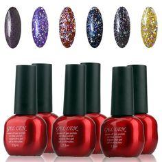Gellen Shiny Nail Polish UV LED Gel Polish Of 6Pcs Colors Nail Art 7.5ml Each Group-24 >>> Check out this great product.