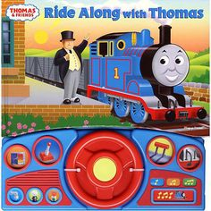 Thomas & Friends Book: Take a trip around the Island of Sodor with Thomas! YOU are in the cab as Thomas says hello to all his friends! Press the buttons to hear 12 sounds from the Island of Sodor.  $8.43  http://calendars.com/Childrens-Books/Thomas-and-Friends-Book/prod1089005/?categoryId=cat00141=cat00141#