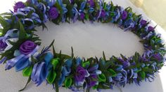 The lei is approximately 36 inches long material/satin ribbon/organza ribbon/