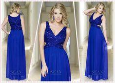 Aline V neck Prom gown evening dress#150754745