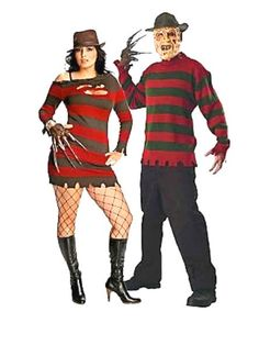 Freddy Kruger Couple Costume, Group Halloween Costumes, Couples Halloween Costumes and Family Halloween Costumes