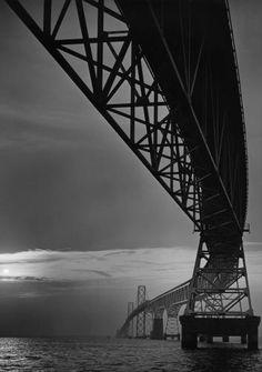 Bay Bridge by A. Aubrey Bodine..