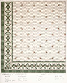Laurelhurst Craftsman Bungalow: Period Mosaic Floor Tile Catalog Laurelhurst Craftsman Bungalow: Per Bath Tiles, Bathroom Floor Tiles, Mosaic Tiles, Hex Tile, Marble Bathrooms, Vintage Bathroom Floor, Vintage Tile Floor, Craftsman Bathroom, Craftsman Kitchen